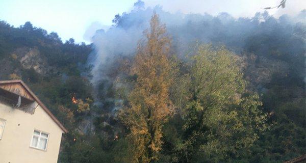 Bartın da orman yangını köyü tehdit ediyor: 7 ev boşaltıldı