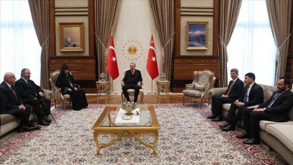 Erdoğan Türkiye Ermenileri 85 Patriği Maşalyan ı kabul etti