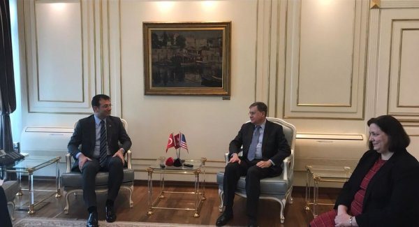 ABD Ankara Büyükelçisi İmamoğlu nu ziyaret etti