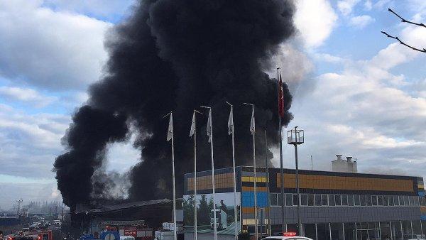 Samsun da plastik fabrikasında yangın