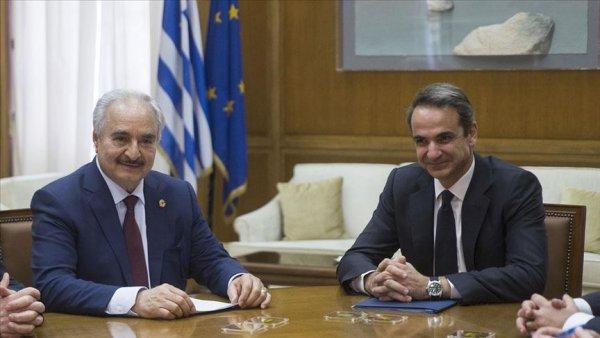 Hafter Miçotakis ve Dışişleri Bakanı Dendias ile görüştü