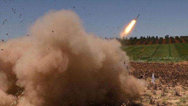 Teröristlerden Afrin e füzeli saldırı