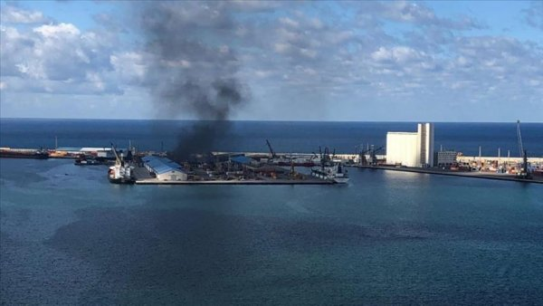 Bombalanan Trablus Limanı nda Türk gemisi bulunmuyor