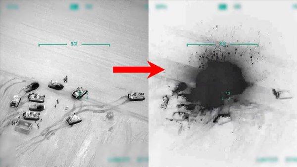 Türkiye Suriye de rejime ait unsurları gece boyunca vurdu