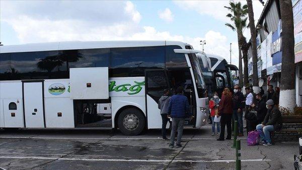 Şehirler arası otobüsler sefere hazır