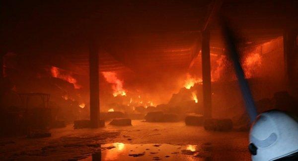 Kahramanmaraş ta fabrikada çıkan yangın kontrol altına alındı