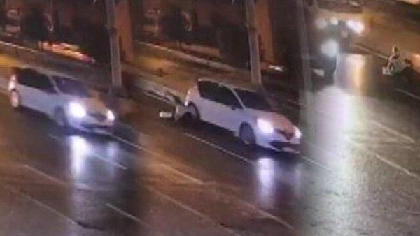 Şişli de kadını otomobilden attılar
