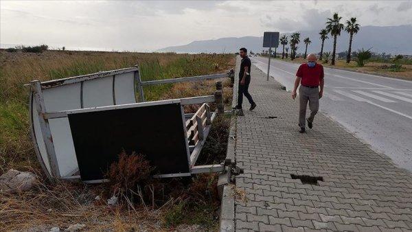 Antalya da kuvvetli rüzgar ve dolu can aldı