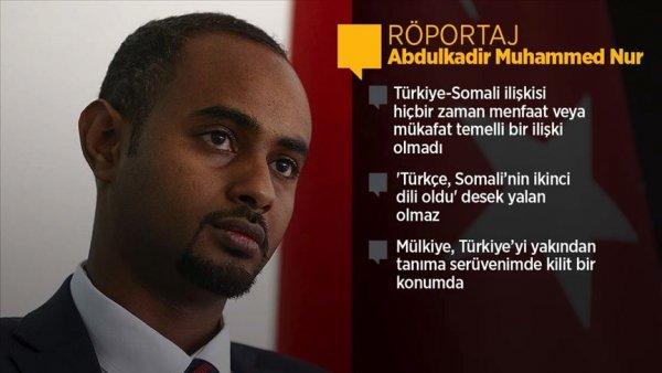 Somali nin Mülkiye mezunu Bakanı ilk röportajını AA ya verdi
