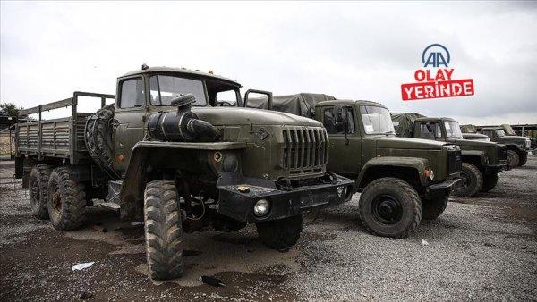 Azerbaycan ın Ermenistan ordusundan ele geçirdiği askeri araçlar