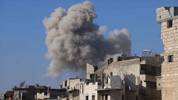Rus savaş uçakları İdlib de Suriye Milli Ordusu güçlerini vurdu