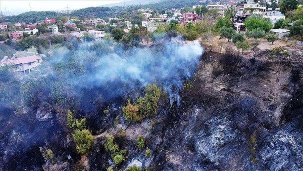 Hatay daki orman yangınına müdahale sürüyor