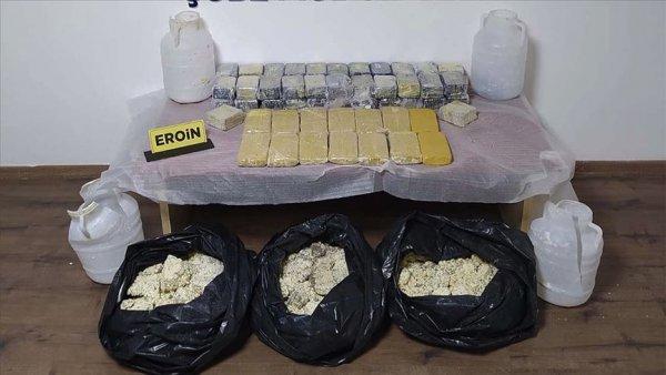 Peynir bidonlarında 31 kilo eroin