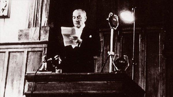Cumhuriyet'in ilanı ve Atatürk'ün Cumhurbaşkanı unvanıyla ilk konuşması