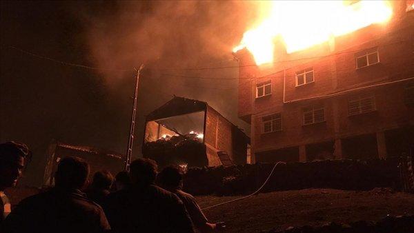 Trabzon un Araklı ilçesinde yangın