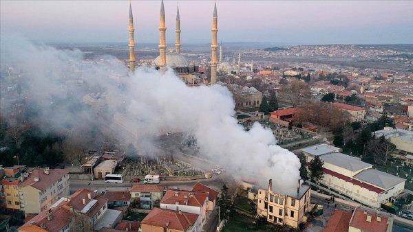 Edirne Müftülüğü binası yandı