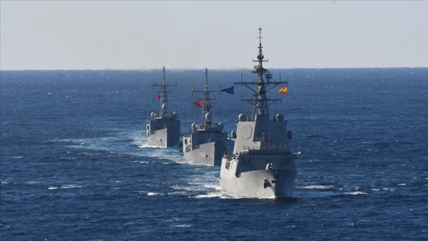 NATO Daimi Deniz Görev Grubu 2 ile TCG GÖKOVA fırkateyni Doğu Akdeniz de