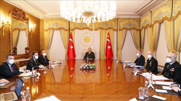 Erdoğan Dış Politika Değerlendirme Toplantısı na başkanlık etti