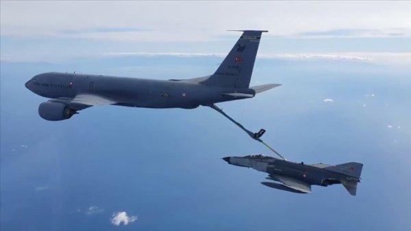Hava Kuvvetleri Komutanlığına ait uçaklar Doğu Akdeniz de