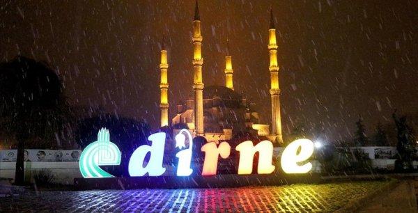 Edirne de kar yağışı başladı