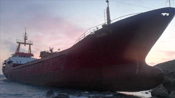 Çanakkale de kargo gemisi karaya oturdu