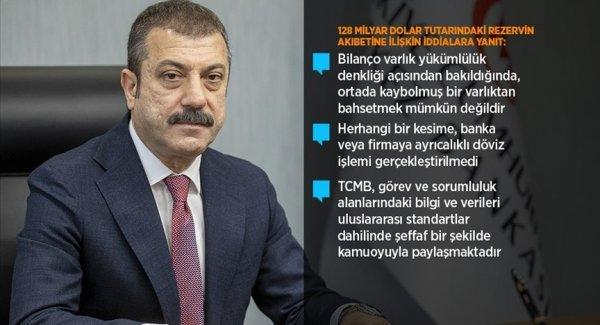Kavcıoğlu ndan 128 milyar dolar rezervin akıbetine ilişkin iddialara yanıt