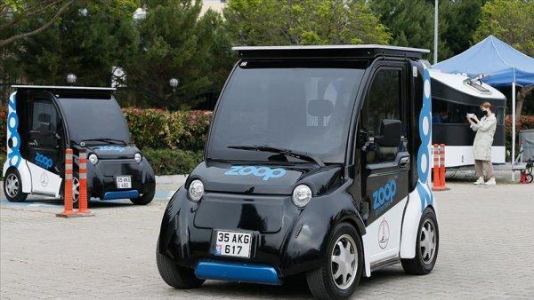 Elektrikli mini araç paylaşımlı olarak İzmir de yollara çıktı