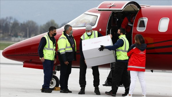 Türkiye nin hibe ettiği 10 bin doz Kovid 19 aşısı Bosna Hersek e ulaştı