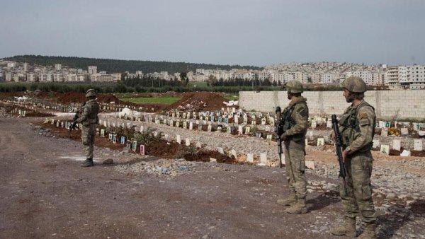 Afrin de terörist mezarları bulundu
