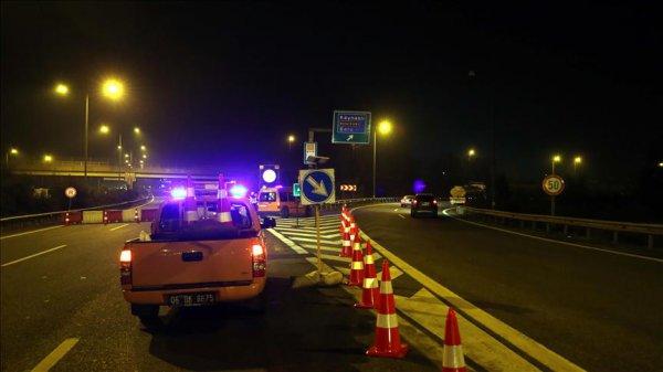 Anadolu Otoyolu Kaynaşlı Abant kavşakları ulaşıma kapatıldı