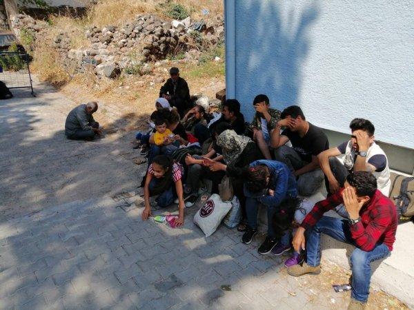 Ayvacık ta 50 kaçak göçmen