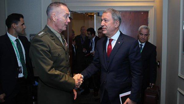 Bakanı Akar ABD Genelkurmay Başkanı Dunford ile görüştü