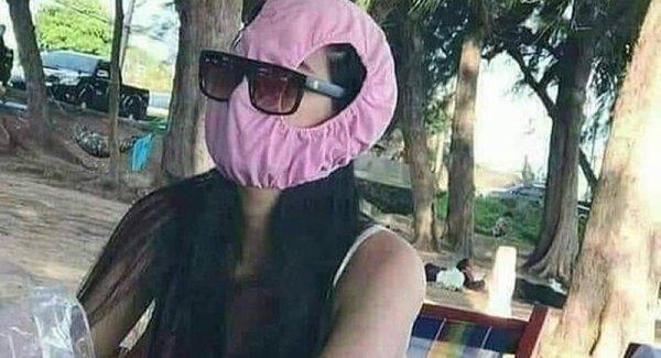 Bangkoklular iç çamaşırlarını maske olarak kullanmaya başladı