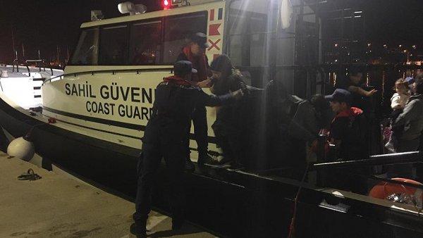 Batan bottaki 11 göçmen kurtarıldı