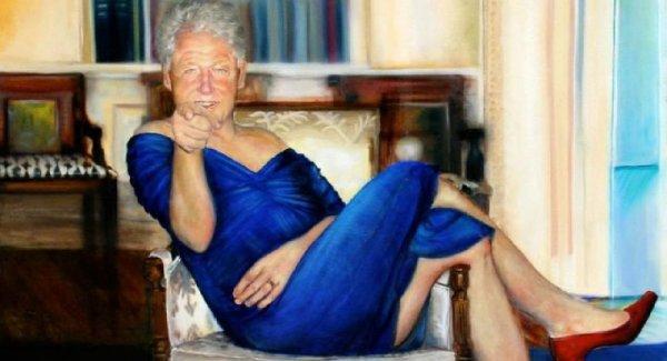 Bill Clinton ın Kadın Adam tablosunun ressamı ortaya çıktı