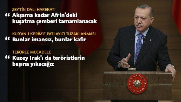 Cumhurbaşkanı Erdoğan dan terörle mücadele için marş önerisi