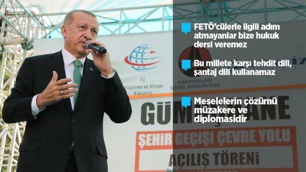 Erdoğan Gümüşhane de vatandaşlara hitap etti