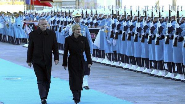 Cumhurbaşkanı Erdoğan Kitaroviç i resmi törenle karşıladı