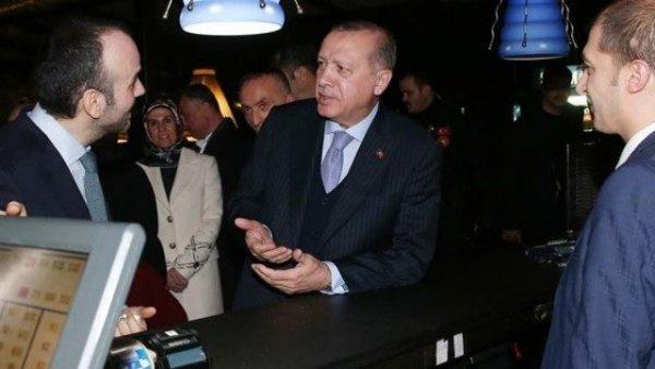 Erdoğan çorbacıya gitti