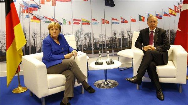 Erdoğan Merkel görüşmesi sona erdi