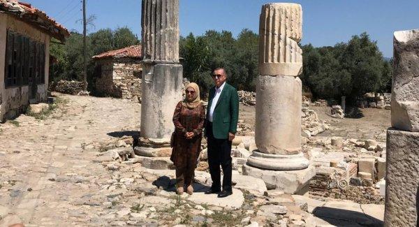 Erdoğan Muğla da tarihi yerleri ziyaret etti