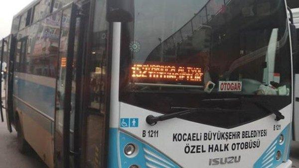 Halk otobüsünü çaldı