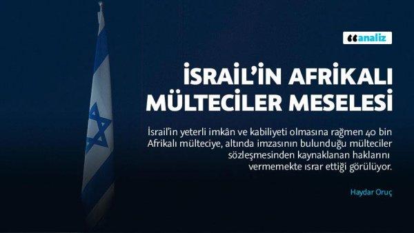 İsrail in Afrikalı mülteciler meselesi