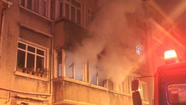 İstanbul da yangın paniği