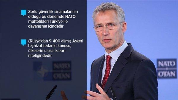 NATO Genel Sekreteri Stoltenberg AA ya konuştu