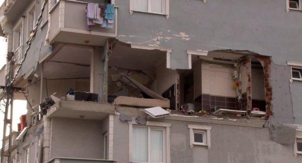 Sancaktepe de 6 katlı binada patlama