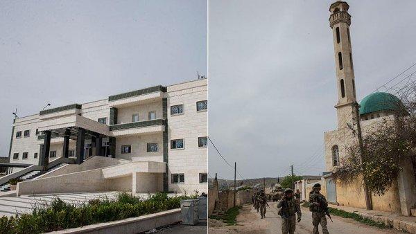 Sivil hassasiyeti Afrin deki binalarda kendini gösterdi