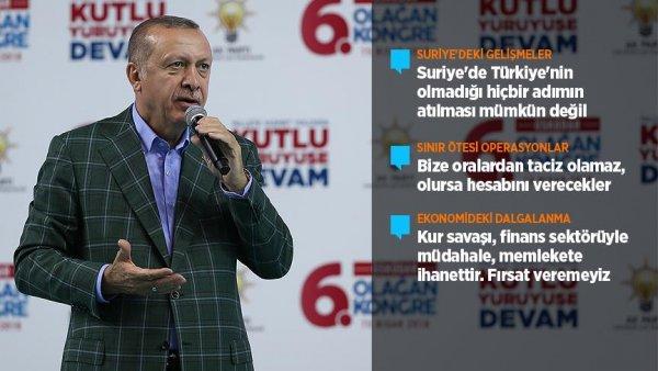 Suriye de Türkiye nin olmadığı hiçbir adımın atılması mümkün değil