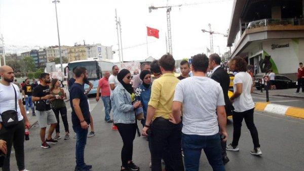 Taksim meydanında arbede