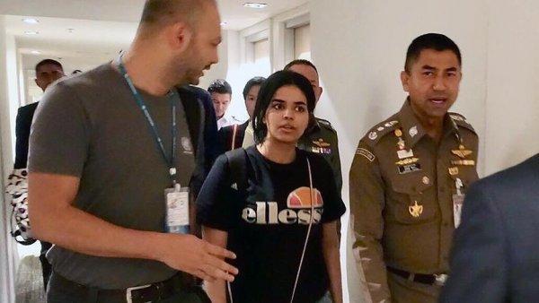 Tayland da alıkonulan Suudi genç kadın Kanada ya gidiyor